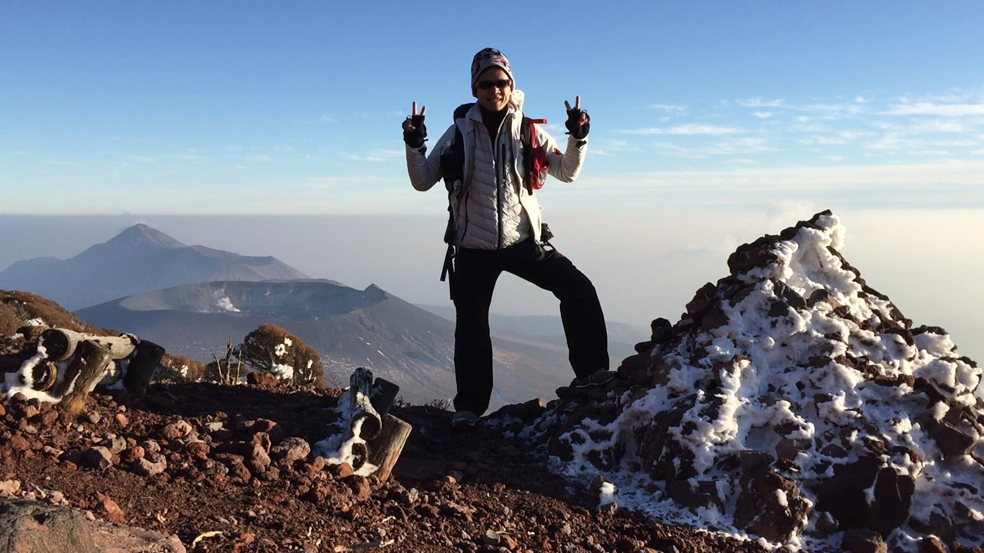 雪の霧島韓国岳登山