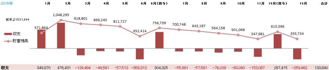 30代独身男2015年1月の家計簿。
