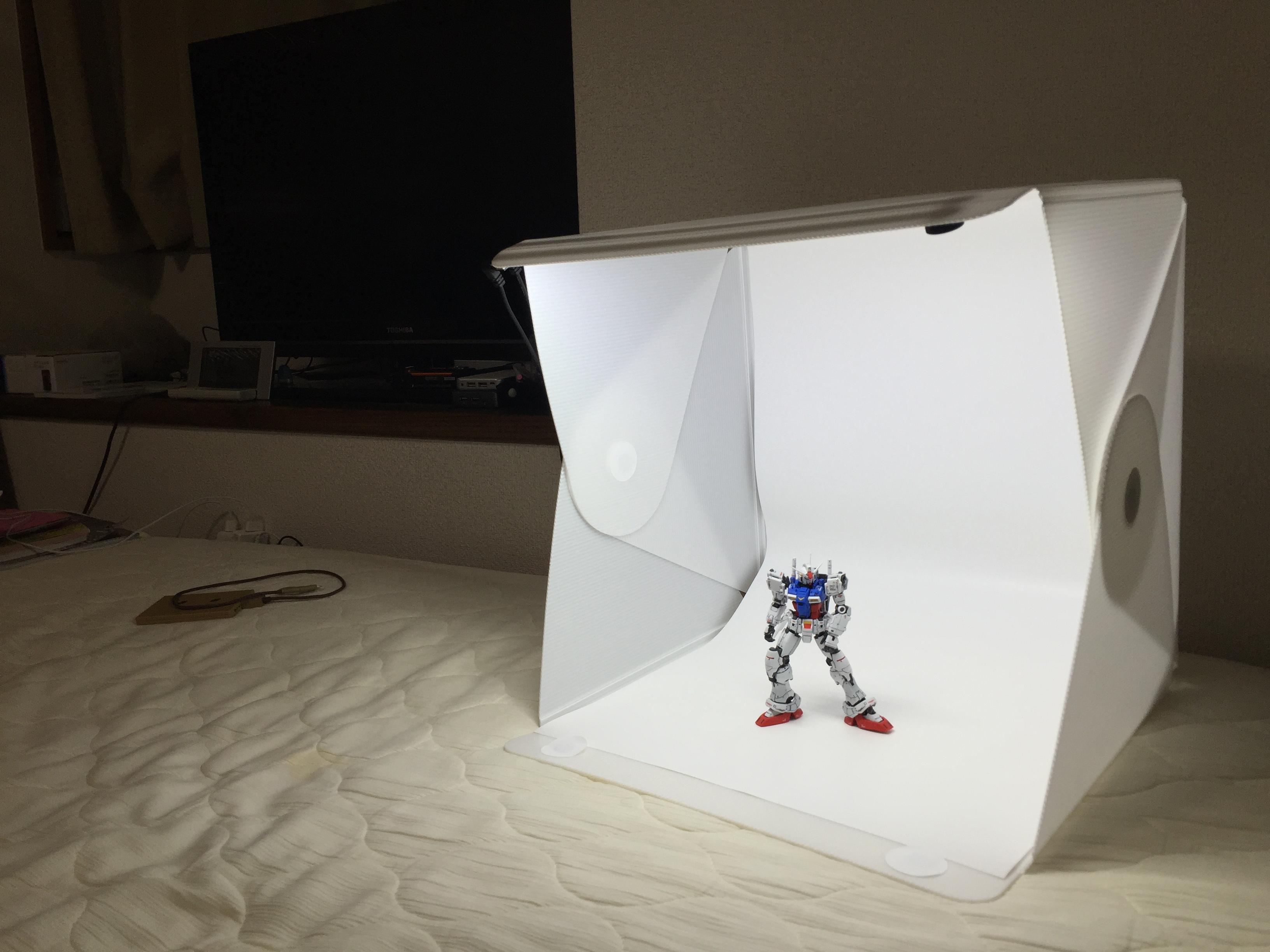 小さい小さいポータブル写真スタジオfoldio2。ブログ用の写真撮影ならおまかせ!